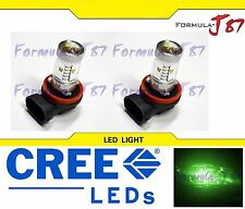 CREE LED 30W H11 GREEN TWO BULB HEAD LIGHT FOG SHOW REPLACEMENT OFF ROAD LAMP