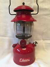 Vintage Burgundy Red Coleman 200A 1962 Lantern Lamp Single Mantle Pyrex Globe