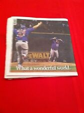 2016 MLB Chicago Cubs World Series newspaper / Sun-Times / Game 7 / Champs!