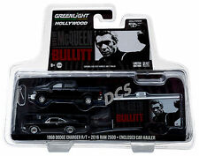 GREENLIGHT '16 DODGE RAM 2500 '68 DODGE CHARGER R/T BULLIT McQUEEN 1/64 31020 B