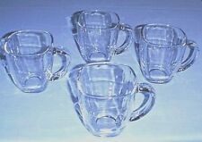 LIBBEY Clear Glass Square 14 oz Coffee Cups / Latte Mugs - Set of 4