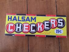 Vintage Halsam Wood Checkers 24 Piece Set 145w