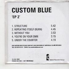 (GQ495) Custom Blue, EP 2 - 2002 DJ CD