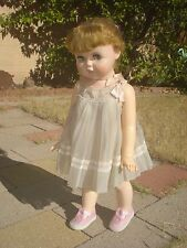 Sweet 1960 Vintage LARGE TOODLES Walker Doll original outfit & spit curls GUC!!