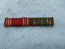WWII Air Corps 2 Ribbon Bar British Made Europe Good Conduct Army PB WW2