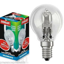 9 x SMALL DIMMABLE HALOGEN ENERGY SAVING GOLF LIGHT LAMP BULBS SES E14 SCREW IN