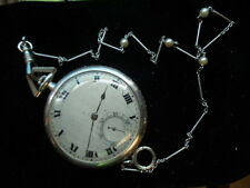 Rare Antique HAAS PLATINUM  Slim DIAMOND CRUSTED 17 JEWEL G4235 Pocket Watch
