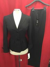 "LESUIT PANT SUIT/BLACK/LINED/SIZE12/INSEAM32""/RETAIL$200/NEW WITH TAG/MACYS SUIT"
