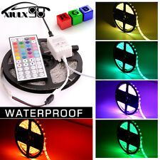 RGB 5M 5050 SMD 300 LED Flexible Strip Waterproof + 44 Key IR Remote Control 12V