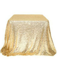 Hot Sale Sparkly 120*180 Gold  Sequin Tablecloth for Wedding/Event/Party