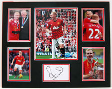 Paul SCHOLES Signed MOUNTED Autograph Man United DISPLAY AFTAL COA Treble WINNER