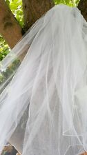 Designer Bridal Wedding Veil 2 Tier White Long Cathedral Tulle