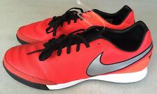 Nike Tiempo Mystic V TF Turf Soccer Cleats Men's 819224-608 US 11 Crimson/Grey