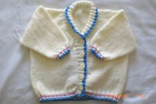 HAND KNITTED CREAM BABY JACKET With JEMIMA PUDDLE~DUCK Fits A 12 Months Old Baby