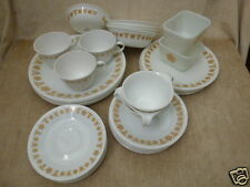 Corning Corelle Butterfly Gold Dishware 52 Pcs Plates Bowls Cups & Pyrex Glass