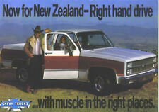 1982 Chevrolet Pickup New Zealand Right-Hand-Drive Sales Brochure
