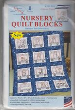 """1 Jack Dempsey """"Circus Train"""" Stamped Embroidery Nursery Quilt Blocks"""