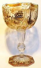 RARE COUPE EN VERRE EMAILLE SIGNEE EMILE GALLE - ART NOUVEAU 1890 NANCY -NO DAUM
