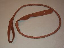 Lakota Leathers Braided ELK Leather MANDOLIN UKE Strap Round TOBACCO