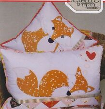 PATTERN - Foxies - 2 cute applique cushions PATTERN - Claire Turpin