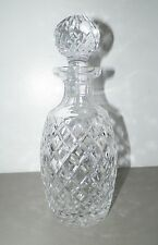 """WATERFORD CRYSTAL DECANTER & ROUND STOPPER 10 3/4"""""""