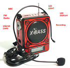 Tragbarer MP3 Player Mini Lautsprecher Radio Speaker Musikbox USB Micro SD Rot
