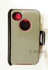 Authentic Grey Pink Otterbox Defender Case Holster Belt Clip Apple iPhone 4 4S