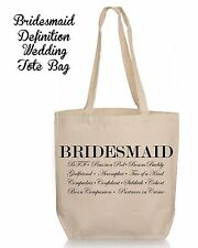 Personalized Wedding Gift Tote- Bridesmaid  Wedding Favor