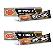 2 x AUTOSOL CHROME & METAL CLEANER & POLISH 100g - THE ORIGINAL & BEST - 2 PACK