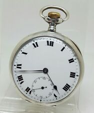 Stunning antique solid silver gents pocket watch 1914 gwo
