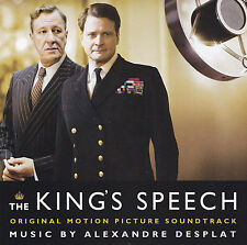 THE KING'S SPEECH - CD - MUSIC BY ALEXANDRE DESPLAT - ORIGINAL SOUNDTRACK