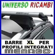 Barre Portatutto Menabo TIGER SILVER 135 BMW X5 (E70) 10 13 Profili Integrati