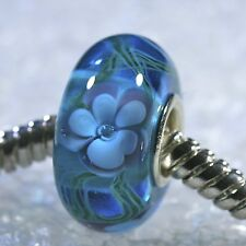 "SINGLE CORE EUROPEAN STYLE GLASS BEADS-""Turquoise Hidden Rose"""