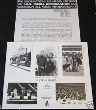 SHOW OF HANDS 'IN CHINA' 1988 PRESS KIT--PHOTO