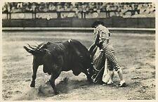 Suerte de Capa Veronica matador bullfight photo postcard