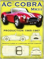 AC Cobra MK3 Classica Muscle Auto Sportive Americana Vecchio Garage
