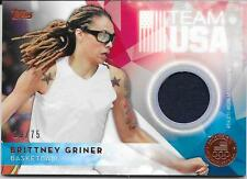 2016 Topps Olympics - BRITTNEY GRINER - Bronze Worn Relic WOMENS BASKETBALL /75