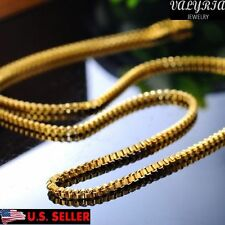 VALYRIA 20.3'' Women's Stainless Steel Thin Gold Box Chain Necklace 2mm Wide USA