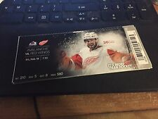 2016 DETROIT RED WINGS VS COLORADO AVALANCHE TICKET STUB 2/12 DREW MILLER