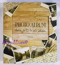 PHOTO ALBUM STORAGE HOLDS 180 4 X 6 PHOTOS - FRAME PICTURE   ... NEW
