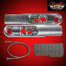 "2000 GSXR 750 Swingarm Extensions Kit, 525 Chain &  36"" Brake Line"