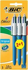 Bic 4 couleurs original stylo à bille-assortiment de couleurs pack de 3