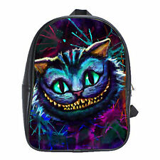 NEW Magic Alice in Wonderland The Cheshire Cat Kid's School Bag Backpack Bag XL