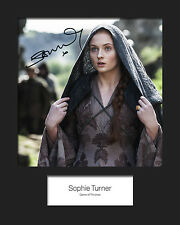 GAME OF THRONES - SANSA (Sophie Turner) #2 Signed 10x8 Mounted Photo RePrint