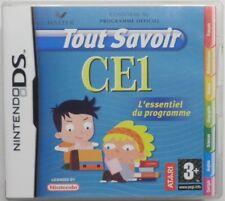 jeu TOUT SAVOIR CE1 sur nintendo DS en francais cours enfant lecons primaire TBE