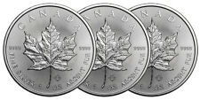 Lot de 3 pieces en argent Maple Leaf 2016 1 once 1 oz silver