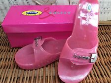 "Original Dr Scholl's DKNY PINK Orchid JELLIES SANDALS ""Jenny"" 9 M WORN ONCE!"