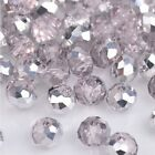 NEW Jewelry Faceted 100 pcs Silver Pink #5040 3x4mm Roundelle Crystal Beads !!!