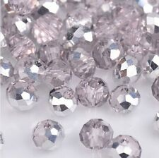 NEW Jewelry Faceted 100 pcs Silver Pink #5040 3x4mm Roundelle Crystal Beads YH2