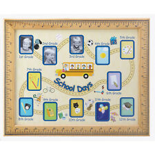 SCHOOL DAYS PHOTO FRAME MULTI PHOTO STUDENT PICTURE RULER BUS